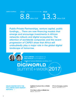 Digital Africa : Des besoins importants de financement pour les infrastructures et les services